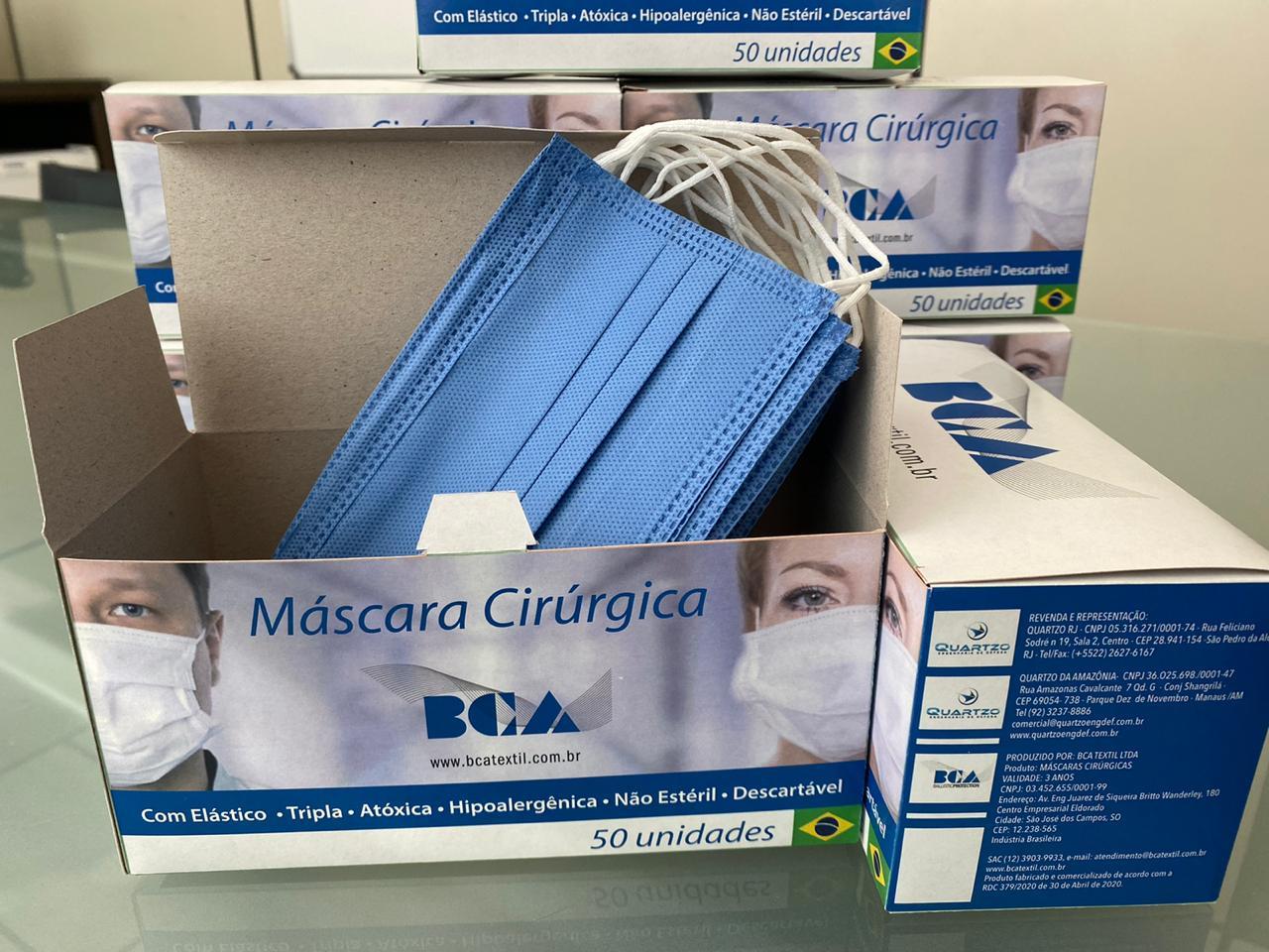 Quartzo BCA Máscara Descartável 3