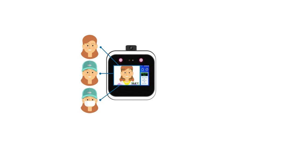 Terminal de Reconhecimento Facial com Controle de Temperatura Corporal